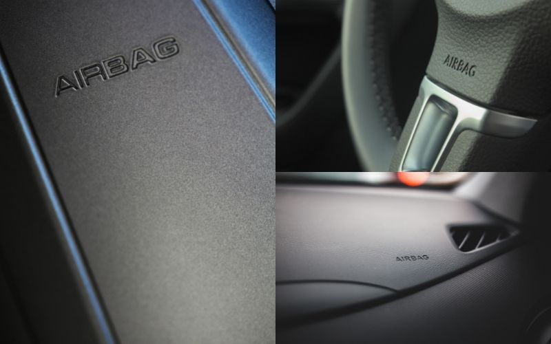 usual location of airbags