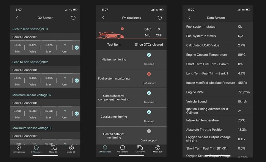 Autophix app screenshots
