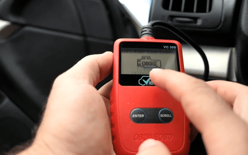 Connect the OBD2 scanner to the OBD2 port on your car