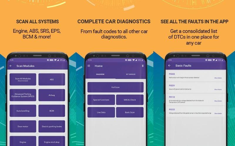 GaragePro app UI