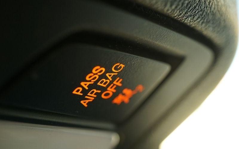 passenger airbag warning