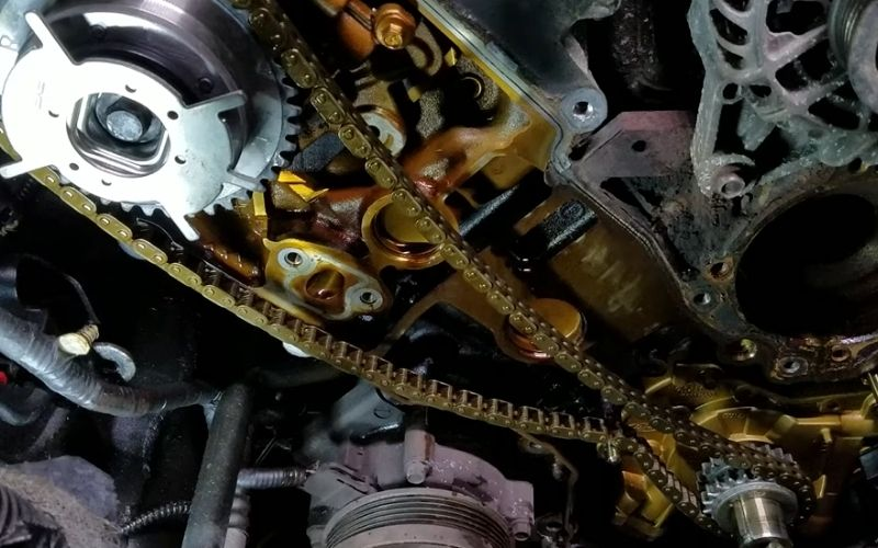 replacing the timing chain and camshaft phasers